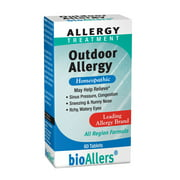 bioAllers Allergy Homeopathic Treatment for Sneezing & Congestion, Itchy Eyes & Headache Relief   60 Tablets (Outdoor Allergy)