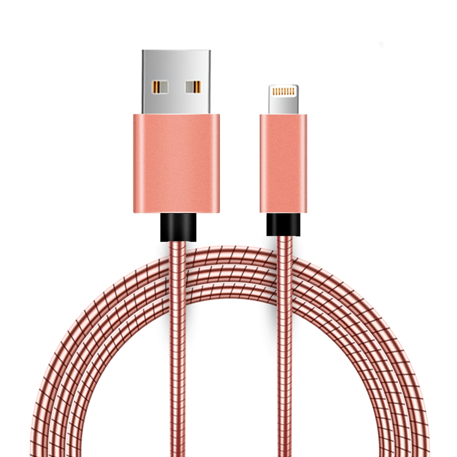 Apple 8 Pin Metal Snake Cable With Aluminum Connectors - Gold