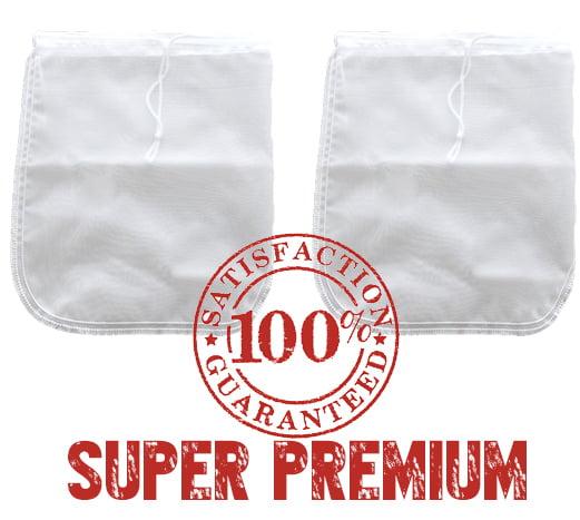 2 Pack! Bright Kitchen PREMIUM Nut Milk Bag Super Fine Nylon Mesh Almond Mylk Strainer by Bright Kitchen