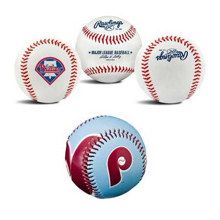 Philadelphia Phillies MLB Retro and Team Logo Authentic Baseballs Bundle 2 Pack