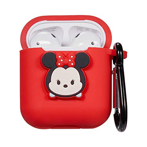 Logee Minnie Mouse Case for Apple Airpods Charging Case,Cute Silicone 3D Cartoon Airpod Cover,Soft Protective Accessories Kit