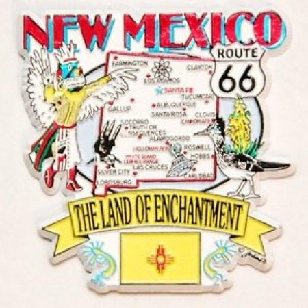 New Mexico State Elements Map Fridge Collectible Souvenir