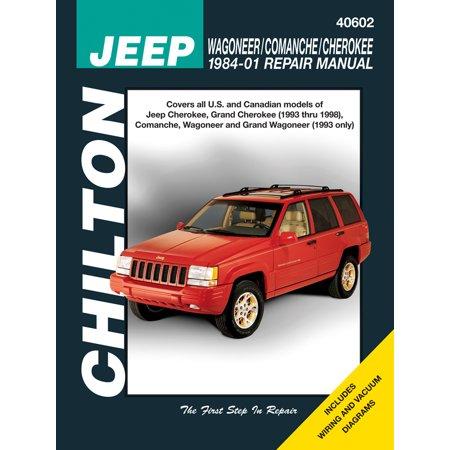 Chilton's Total Car Care Repair Manuals: Jeep Wagoneer/Comanche/Cherokee 1984-01 Repair Manual (Paperback)