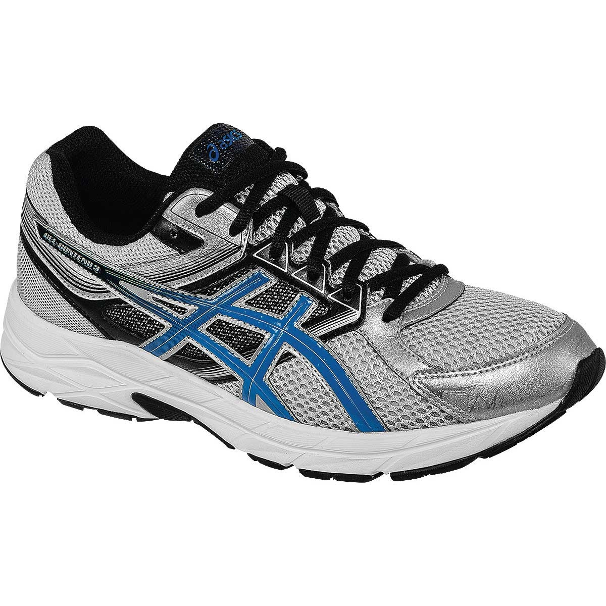 Asics 2015/16 Men's Gel-Contend 3 (4E) Extra Wide Running Shoe - T5G1N.9339 (Silver/Electric Blue/Black - 9H)