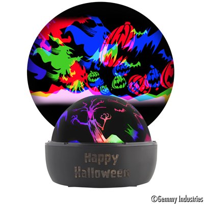 Lincoln Halloween Lights (Gemmy Industries Multicolor LED Flying Ghosts and Witches Silhouette Halloween)