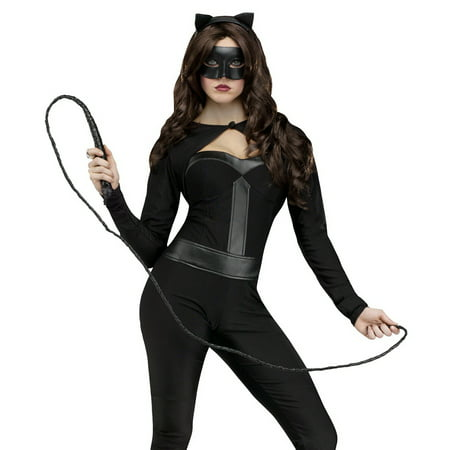 Fun World Sexy Black Cat Jumpsuit Woman Halloween Costume](Black Cat Halloween Costumes Women)