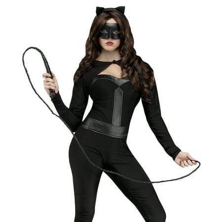 Fun World Sexy Black Cat Jumpsuit Woman Halloween Costume - Black Cat Song Halloween