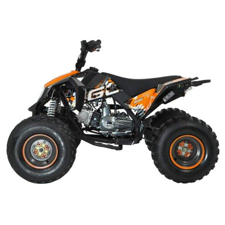 T4B MADMAX JUNIOR ATV 125cc KIDS Dirt Quad Recreational Outdoors, Off-Road, All Terrain, 4 stroke, single-cylinder, air-cooled - Orange - image 1 de 7