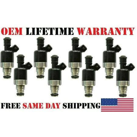 8x OEM Rochester #17120683 Fuel Injectors for 1994-1996 Chevrolet Caprice 4.3L V8/Refurbished/ ()