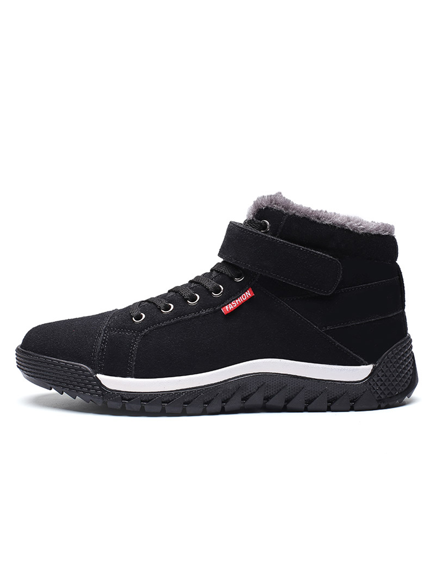 8623895b6497 Men Women Snow Boots Fur Lined Comfortable Warm Waterproof Sneakers High  Top Non-Slip Winter Outdoor Hiking Ankle Shoes