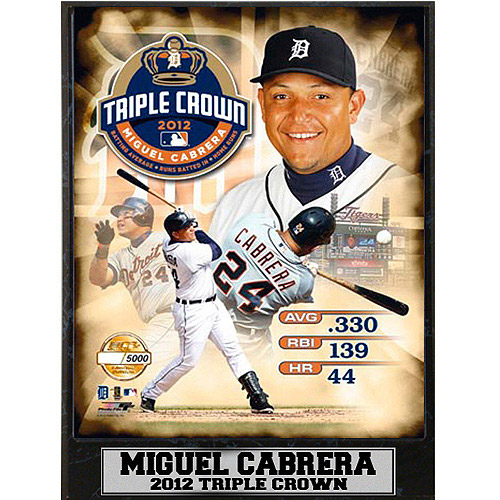 MLB Miguel Cabrera Photo Plaque, 9x12