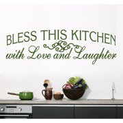 Sweetums Bless This Kitchen Wall Decal (70-inch x  22-inch)