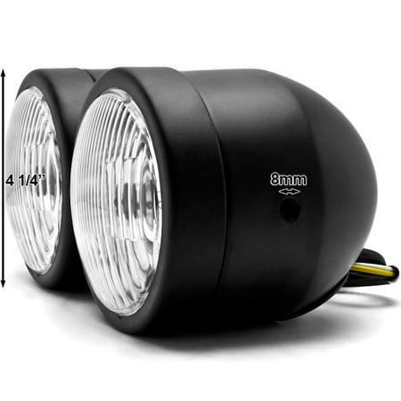 Kapsco Moto Black Twin Headlight Motorcycle Double Dual Lamp For Suzuki Burgman 400 650 - image 5 of 6