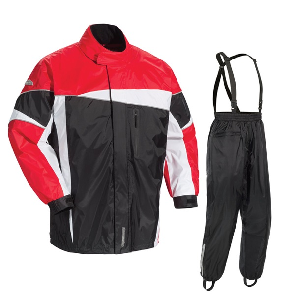 Tourmaster Defender 2.0 Mens Two Piece Rainsuit Black/Red