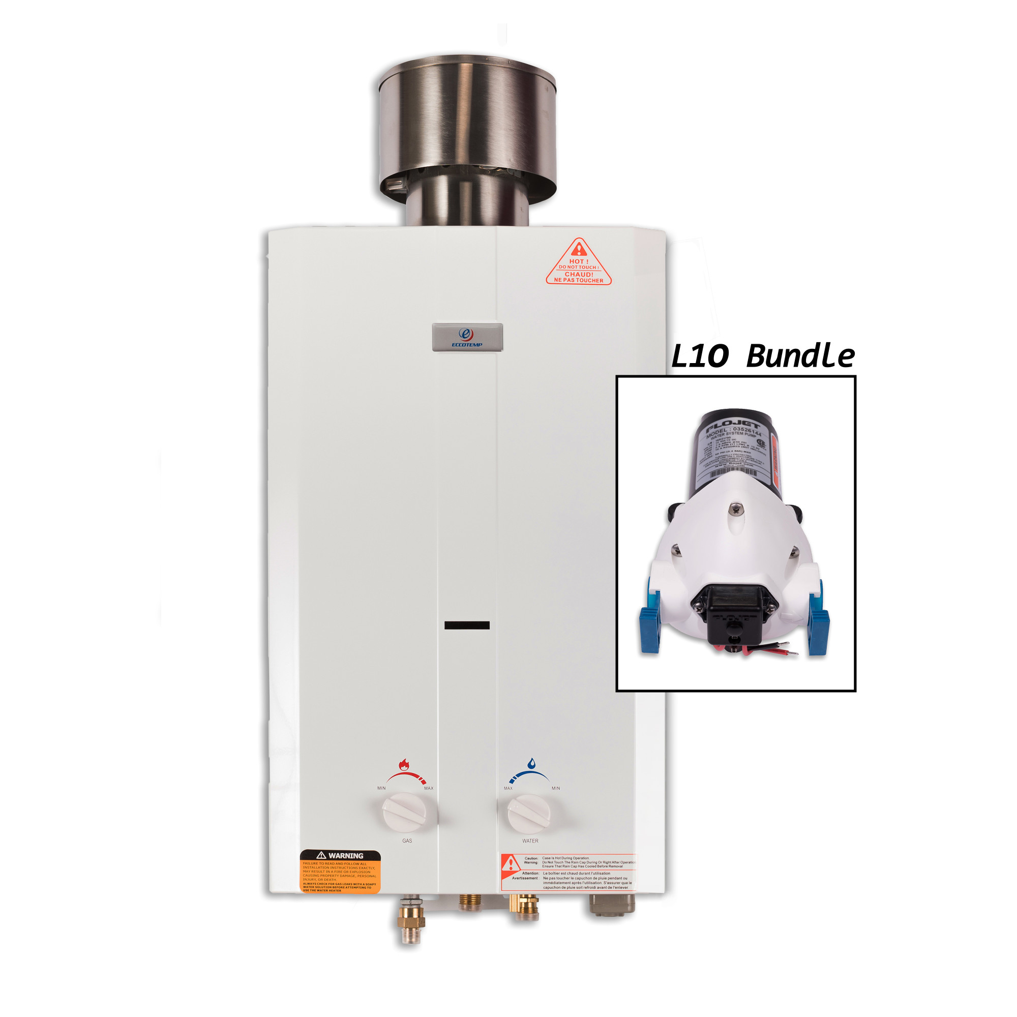 Eccotemp Systems L10-P L10 Portable Outdoor Tankless Water Heater with EccoFlo Pump and Strainer