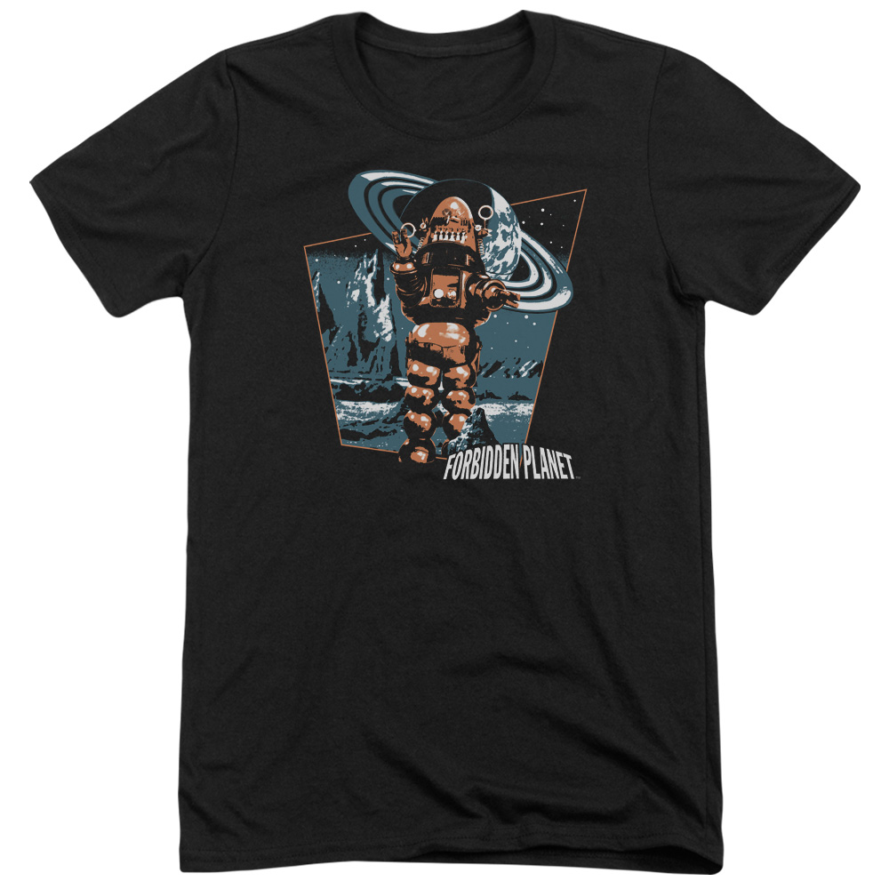 Forbidden Planet Robby Walks Mens Tri-Blend Short Sleeve Shirt