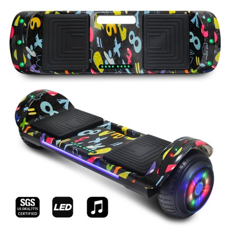 CHO NEW Generation Electric Hoverboard Two Wheels Smart Self Balancing Scooter Hoover Board with Built in Speaker Flashing LED Light