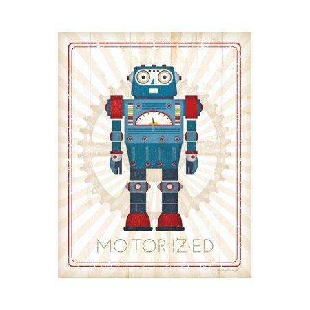 Retro Robot IV Print Wall Art By Jennifer Pugh - Walmart.com