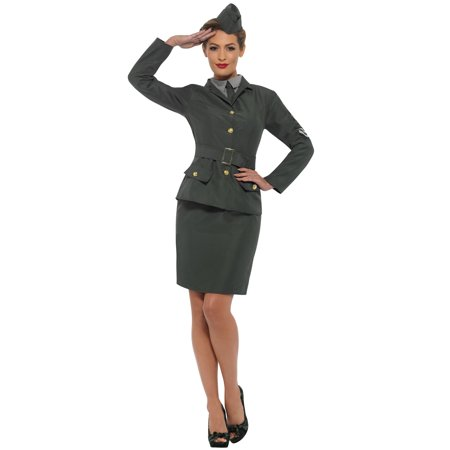 WW2 Army Girl Adult Costume (Funny Army Costume)