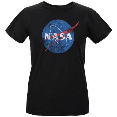 NASA Distressed Logo Womens Organic T Shirt