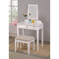 Iris Vanity Table & Stool White