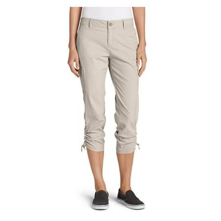 Eddie Bauer Women's Adventurer Stretch Ripstop Crop Cargo Pants - Slightly Curvy Grace Crop Pant