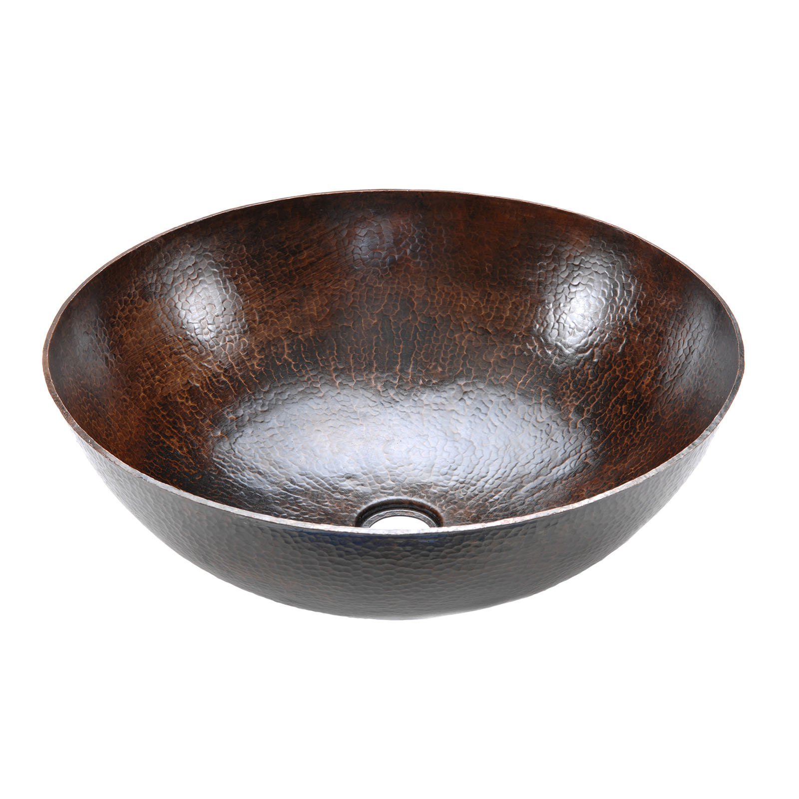 Premier Copper Products VRBDB Round Vessel Hammered Copper Sink