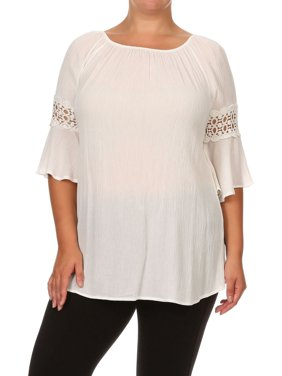 d9d4774202a Product Image Plus Size Women s 3 4 Sleeves Off Shoulder Top