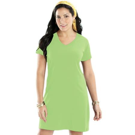 New Smocked Dress 2 Piece (Womens Tee Dress by LAT)