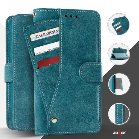 the best attitude 3509f 99db5 Zizo® Organizer Slide Out Wallet Case for iPhone SE 5 5G 5S Design Wallet  Pouch Case Cover with TPU IDs Money Organizer Credit Card Holder