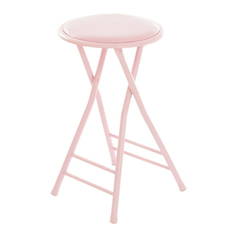 Wondrous Folding Stool Heavy Duty 24 Inch Collapsible Padded Round Stool With 300 Pound Limit For Dorm Rec Or Gameroom By Trademark Home Pink Beatyapartments Chair Design Images Beatyapartmentscom