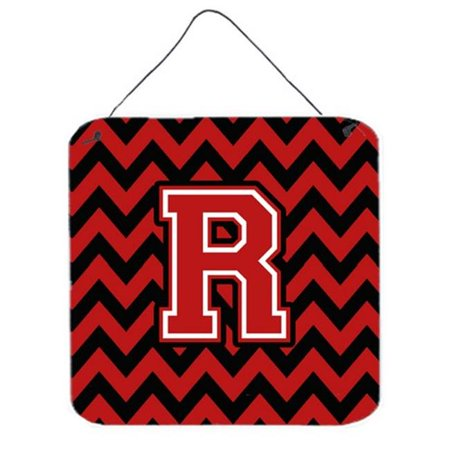 Carolines Treasures CJ1047-RDS66 Letter R Chevron Black & Red Wall or Door Hanging Prints - image 1 of 1