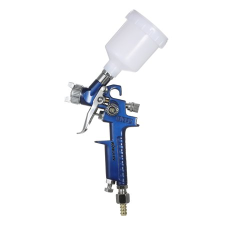 KKmoon 1.0mm Mini HVLP Air Spray Gun Airbrush Kit Touch Up Paint Sprayer Gravity Feed Air Brush Set Auto Car Painting for Spot