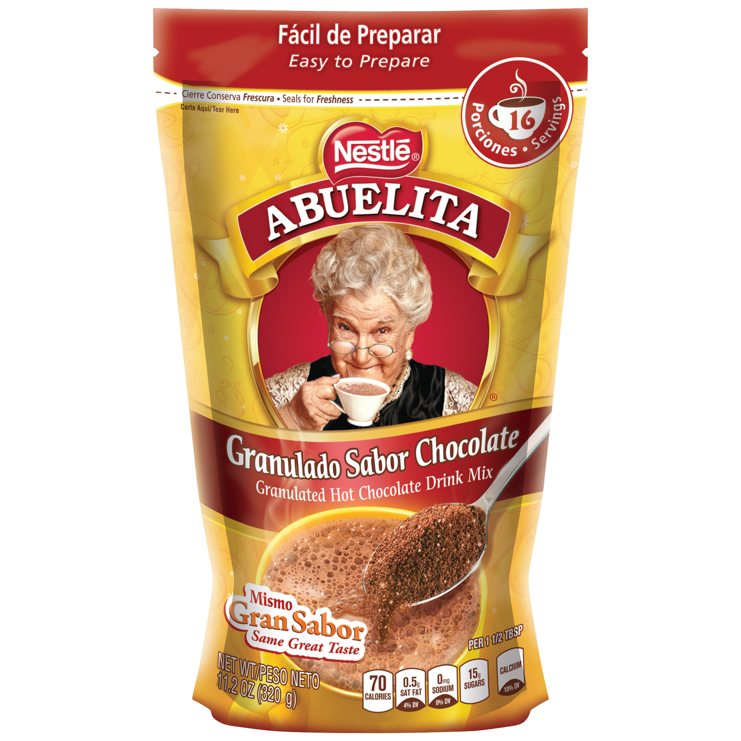 Nestle ABUELITA Granulated Hot Chocolate Drink Mix 11.2 oz. Bag