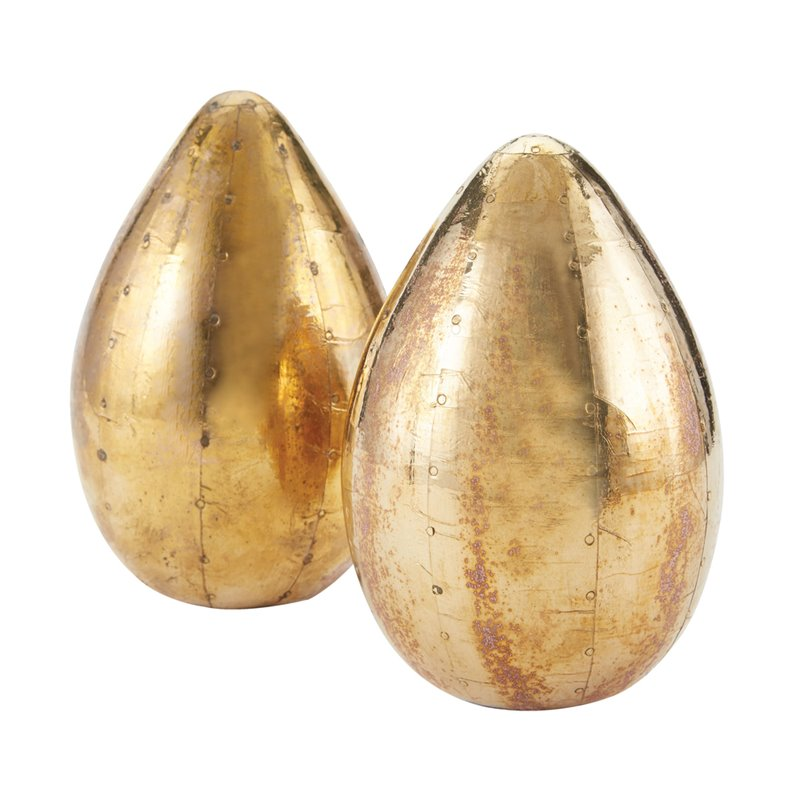 Dimond Home  178-024/S2  Accents  Eggs  Home Decor  Statues & Figurines  ;Pale Gold