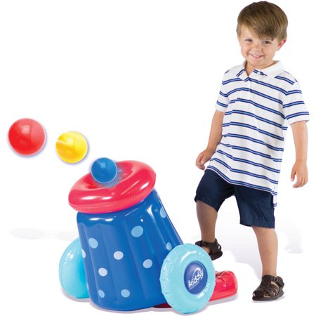 Kiddy Up Pit Ball Cannon Blaster with 10 Crush-Resistant Pit Balls