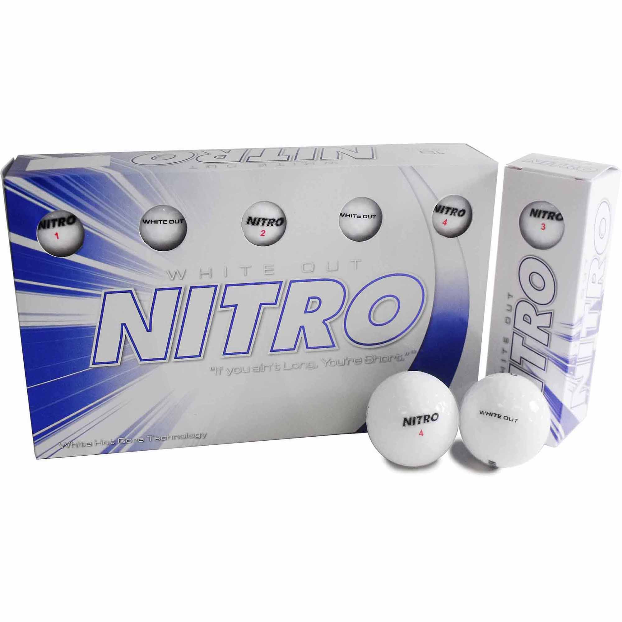 Nitro White Out Goft Ball, 15-Pack, White