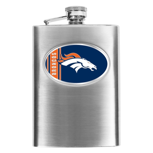 Denver Broncos Stainless Steel Flask - No Size