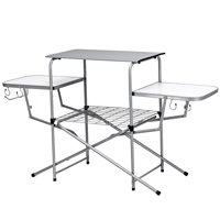 Product TitleCostway Foldable Camping Table Outdoor Kitchen