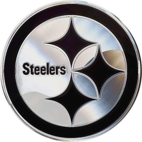 Pittsburgh Steelers Chrome Auto Emblem
