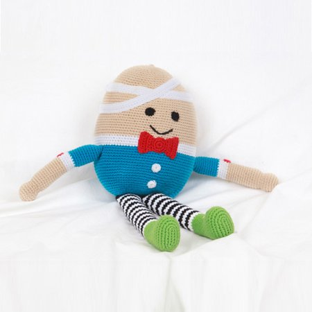 Hand knit Humpty Dumpty Stuffed Toy