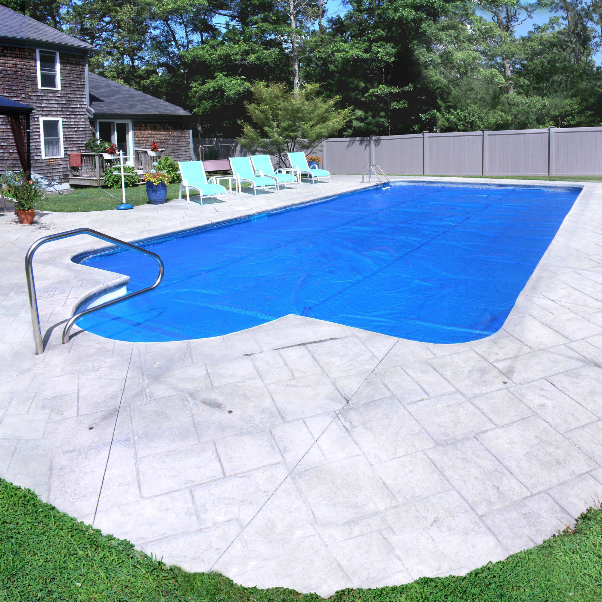 Pool Mate Deluxe 3-Year Blue Solar Blanket for In-Ground Swimming Pool