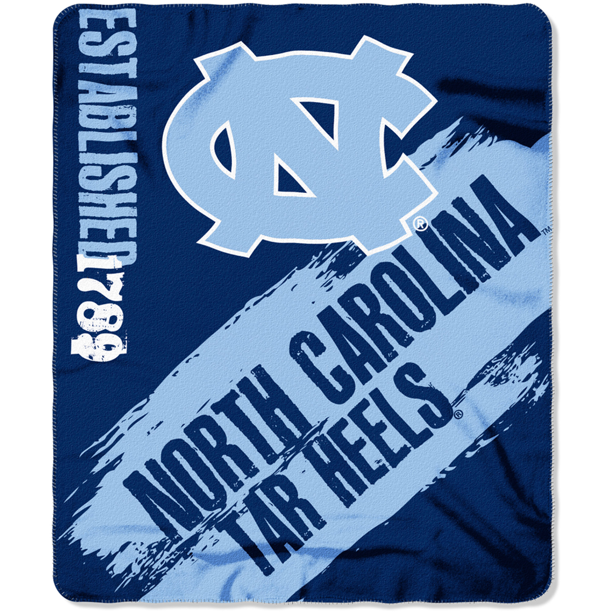 "NCAA North Carolina Tar Heels 50"" x 60"" Fleece Throw"