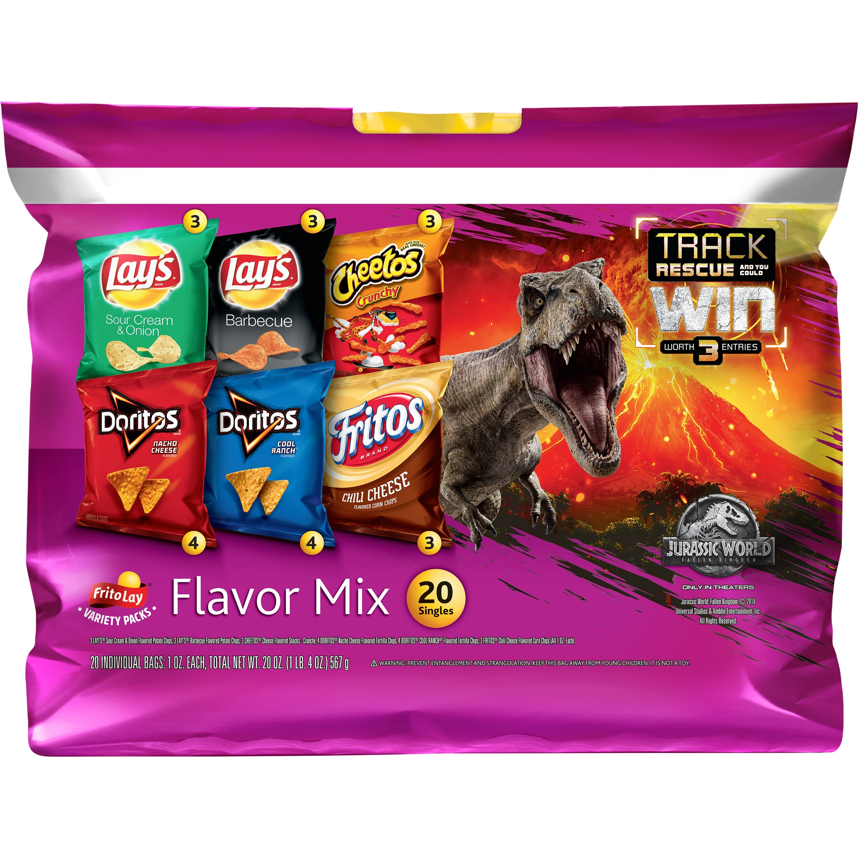 (2 Packs) Frito-Lay, Flavor Mix Variety Pack, 20 ct