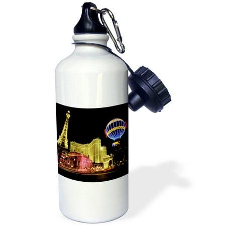 3Drose Paris Hotel And Casin At Las Vegas Strip United States  Sports Water Bottle  21Oz