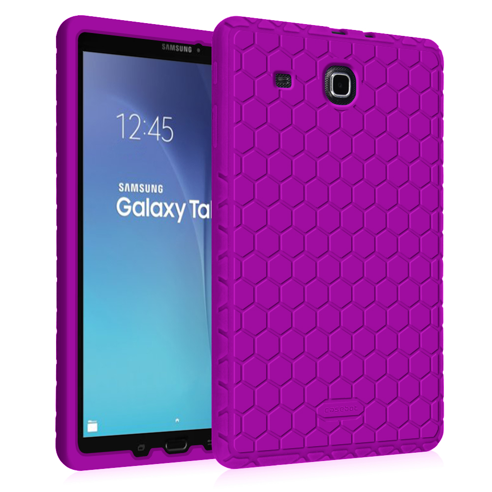 Fintie Samsung Galaxy Tab E 9.6 / Tab E Nook 9.6 Tablet Silicone Case - Lightweight Shockproof Cover, Purple