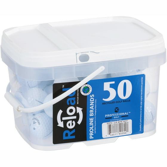 Reload Golf Balls, Used, 50 Pack