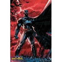 Batman Comic Red Poster Poster Print