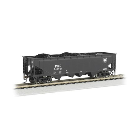 Bachmann Industries 40' Quad Hopper Pennsylvania Car, Black, HO Scale, Silver Series rolling stock By Bachmann Trains Ship from - Stock Ships