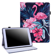 HDE iPad 2017 Case - 9.7 inch Leather Folio Cover Slim Fit Smart-shell Multi-Angle Vintage Stand for New iPad 2017 9.7 inch Tablet (Pink Flamingo)